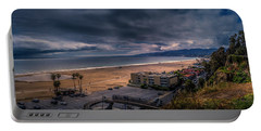 Storm Watch Over Malibu - Panarama  Portable Battery Charger