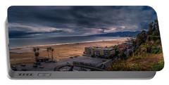 Storm Watch Over Malibu - Panarama  Portable Battery Charger