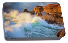 Portable Battery Charger featuring the photograph Storm Watchers by Darren White
