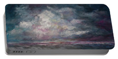 Portable Battery Charger featuring the painting Storm's Approaching by Michele A Loftus