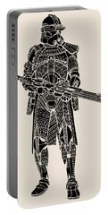 Stormtrooper Samurai - Star Wars Art - Black Portable Battery Charger