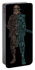 Stormtrooper Samurai - Star Wars Art - Minimal Portable Battery Charger