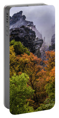 Stormy American Fork Canyon - Wasatch - Utah Portable Battery Charger