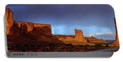 Portable Battery Charger featuring the photograph Stormy Desert by Chad Dutson