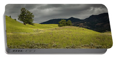 Stormy Fields Of Yellow Portable Battery Charger