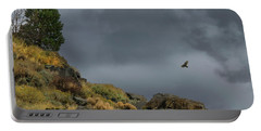 Portable Battery Charger featuring the photograph Stormy Flight by Frank Wilson