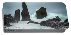Stormy Iclandic Seas Portable Battery Charger