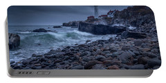 Portable Battery Charger featuring the photograph Stormy Lighthouse by Doug Camara