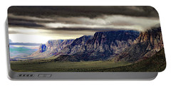 Stormy Morning In Red Rock Canyon Portable Battery Charger by Alan Socolik