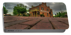 Stormy Morning On Main Street Portable Battery Charger