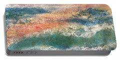 Stormy Seas Portable Battery Charger by Kim Nelson