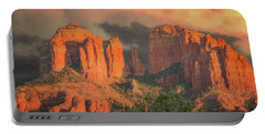 Stormy Sedona Sunset Portable Battery Charger