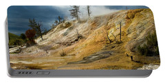 Stormy Skies At Mammoth Portable Battery Charger by Steve Stuller