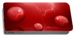 Stormy Skies - Red Portable Battery Charger
