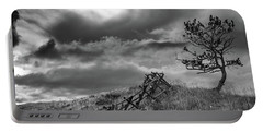 Stormy Sky At The Ranch Portable Battery Charger