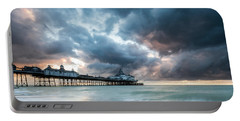 Stormy Sunrise Over Eastbourne Pier Portable Battery Charger