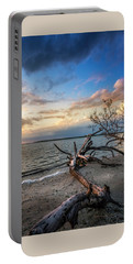 Portable Battery Charger featuring the photograph Stormy Sunset by Marvin Spates