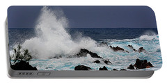 Stormy Surf At Laupahoehoe Portable Battery Charger