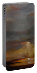 Stormy Waterscape Sunset Seascape Marsh Painting Portable Battery Charger