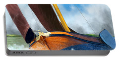 Stormy Weather Skutsje Sailing Ship Portable Battery Charger