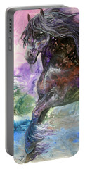 Stormy Wind Horse Portable Battery Charger by Sherry Shipley