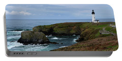 Stormy Yaquina Head Lighthouse Portable Battery Charger