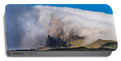 Portable Battery Charger featuring the photograph Storr In Cloud by Gary Eason