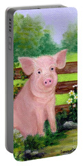 Storybook Pig Portable Battery Charger by Sandra Estes