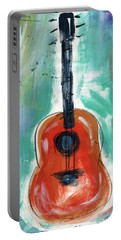 Storyteller's Guitar Portable Battery Charger by Linda Woods