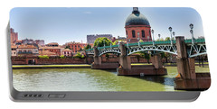 Portable Battery Charger featuring the photograph St.pierre Bridge In Toulouse by Elena Elisseeva
