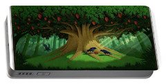 Portable Battery Charger featuring the digital art Strange Fruit by Scott Ross