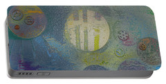 Portable Battery Charger featuring the painting Strange Universe by Robert Margetts