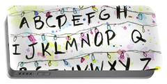 Stranger Things Alphabet Wall Christmas Lights Portable Battery Charger