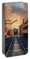Portable Battery Charger featuring the photograph Strasburg Railroad Station by Lori Deiter
