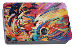 Portable Battery Charger featuring the painting Stravinsky by Gary Coleman