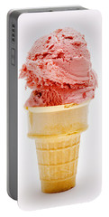 Strawberry Cherry Ice Cream Cone Portable Battery Charger