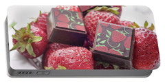 Strawberry Delight Portable Battery Charger by Sabine Edrissi