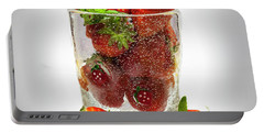 Strawberry Dessert Portable Battery Charger by David French