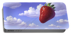Strawberry Field Portable Battery Charger by Jerry LoFaro