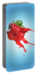 Portable Battery Charger featuring the photograph Strawberry by Juli Scalzi