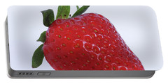 Strawberry Portable Battery Charger by Julia Wilcox