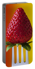 Strawberry On Fork Portable Battery Charger