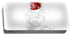 Strawberry Splash Portable Battery Charger