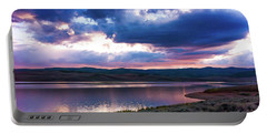 Portable Battery Charger featuring the photograph Strawberry Sunset by Bryan Carter