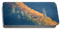 Portable Battery Charger featuring the photograph Streak Of Gold by AJ Schibig