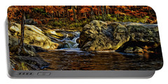 Stream In Autumn 57 In Oil Portable Battery Charger by Mark Myhaver