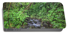 Stream In The Rainforest Portable Battery Charger