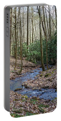 Stream In The Winter Woods Portable Battery Charger