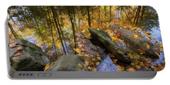 Stream Side Reflections Portable Battery Charger by Mike Eingle