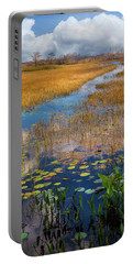 Portable Battery Charger featuring the photograph Stream Through The Everglades by Debra and Dave Vanderlaan